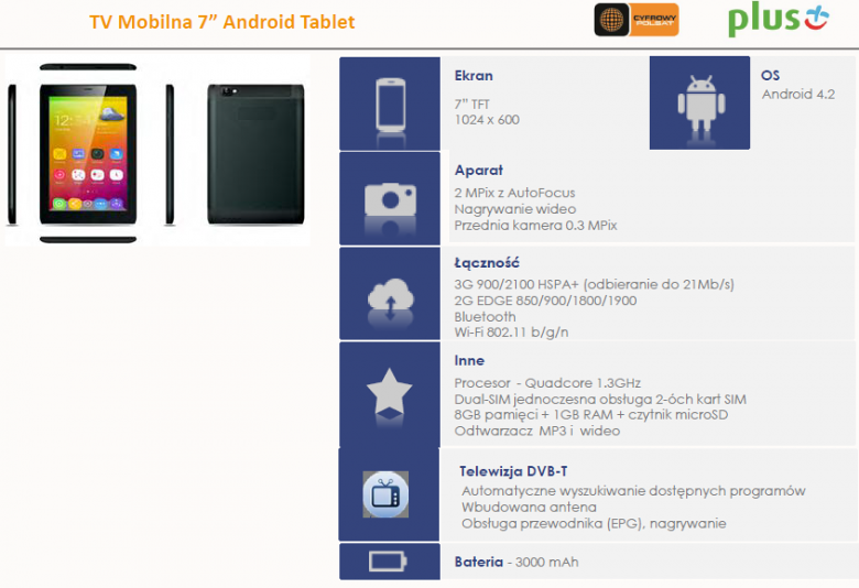 "TV Mobilna 7"" Android Tablet"