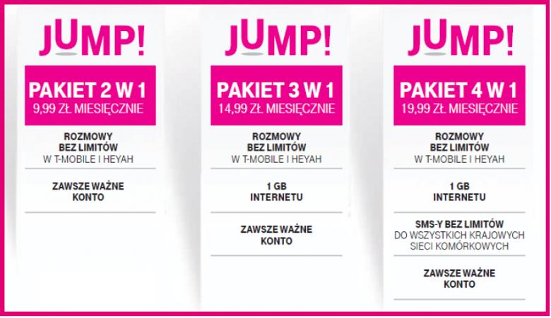 T Mobile Na Karte.Nowe Pakiety Jump W T Mobile Na Kartę T Mobile T Mobile Na Kartę
